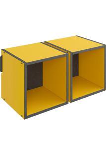 Nicho Duplo Mov – Be Mobiliário - Amarelo / Carbono