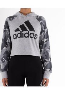 Blusão Adidas Sport Id Crop Cinza Feminino G