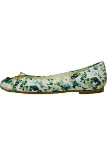 Sapatilha Vinci Shoes Floral Green