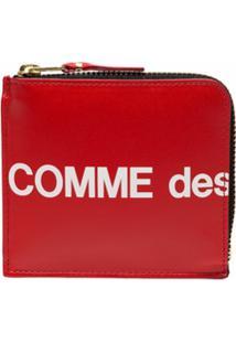 Comme Des Garçons Wallet Carteira Com Estampa De Logo - Vermelho