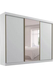 Guarda-Roupa Casal Com Espelho São Paulo I 3 Pt 6 Gv Branco