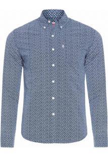 Camisa Masculina Classic One - Azul