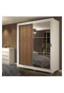 Guarda-Roupa Solteiro Madesa Dallas Plus 2 Portas De Correr Com Espelho 4 Gavetas Com Pés