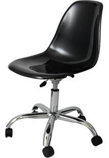 Cadeira Eames Com Rodizio Policarbonato Preto - 19293 - Sun House