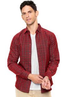 Camisa Colcci Veludo Vermelho