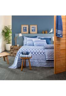 Jogo De Lençol Home Design Queen Akemi - Santista - Azul