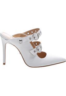 New Quereda Strap Mule High Changeable White | Schutz