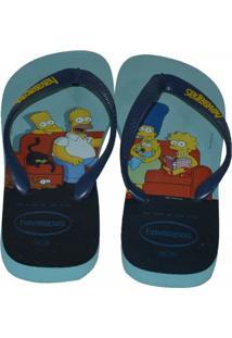 Chinelo Havaianas Simpsons - Masculino-Azul