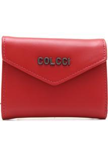 Carteira Couro Colcci Logo Vermelha