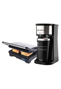 Kit Cadence Black - Cafeteira To Go E Grill - 127V