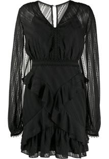 Three Floor Vestido Mirrored Escape Mini - Preto
