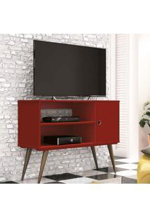 Rack Para Tv Até 32 Polegadas 1 Porta Reale Retrô Edn Móveis Vermelho