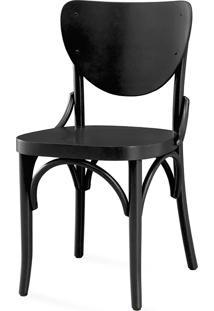 Cadeira Moderna Para Sala De Jantar - Laca Preta - Eléonore - 44X49,5X82,5 Cm