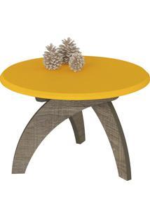 Mesa De Centro Jade - Artely - Canela / Amarelo