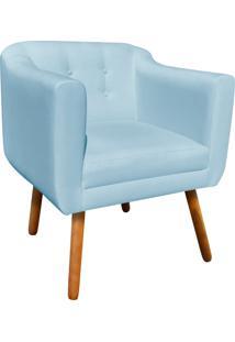 Poltrona Decorativa Julia Linho Azul Nuvem A07 - D'Rossi