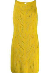 Ermanno Scervino Vestido Com Aplicação De Crochê - Amarelo