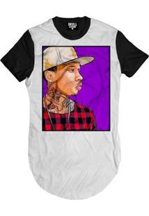 Camiseta Skull Clothing Longline Tyga Purple Masculina - Masculino