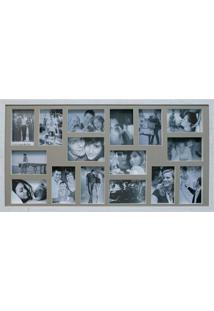 Painel De Fotos Bee Collection 43X83 Rustics 16 Fotos 10X15 Branco Kapos