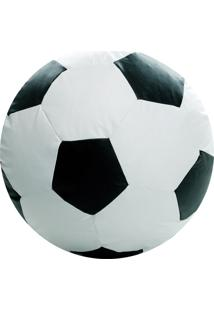 Puff Ball Futebol Infantil Pop Branco E Preto Stay Puff