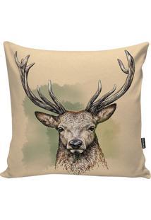 Capa De Almofada American Deer- Bege & Verde Água- 4Stm Home