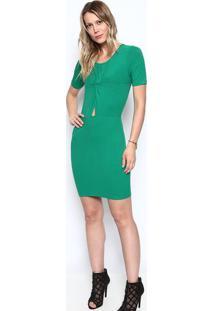 5eaad6b94 R$ 72,99. Privalia Vestido Canelado Com Torção- Verde- Colccicolcci