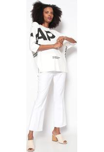 Blusa E- Fabrics Asap-Off White & Pretaosklen