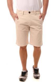 Bermuda Jeans Eventual Casual Masculina - Masculino-Bege