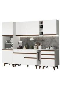 Cozinha Completa Madesa Reims 260005 Com Armário E Balcão Branco Cor:Branco