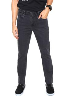 Calça Jeans Volcom Slim Solver Washed Cinza