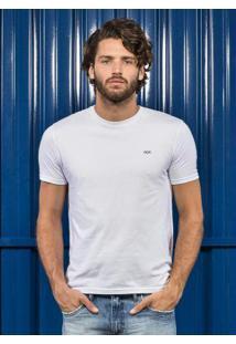 Camiseta Básica Com Bordado Branco Hangar 33