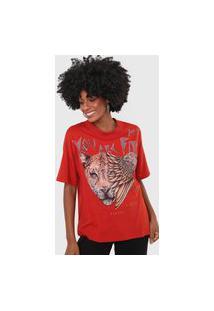 Camiseta Colcci Animal Vermelha