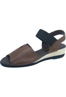 Anabela S2 Shoes Couro Café