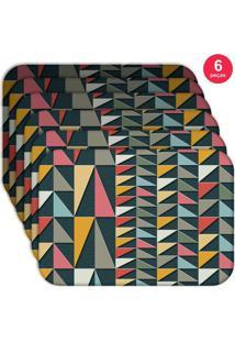 Jogo Americano Love Decor Wevans Geometric Colors Kit Com 6 Pçs