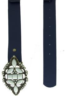 Cinto Lua Nova Casual Azul Marinho