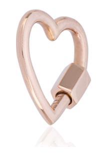 Marla Aaron Pingente Em Ouro Rosé 14K De Coração - Metálico