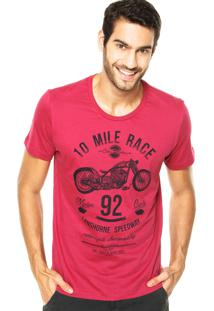Camiseta Colcci Race Rosa
