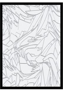 Quadro Com Moldura Mármore Branco E Cinza (45X32)