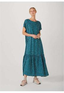Vestido Longo Feminino Em Viscose Mini Me Verde