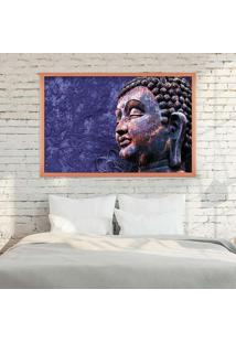 Quadro Com Moldura Buddha Rose Metalizado - Médio