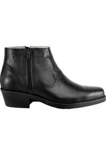 Bota Hb Agabe Boots Conforto Masculina - Masculino-Preto