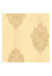 Papel De Parede Saint Baroque Sb 13102 Com Estampa Contendo Aspecto Têxtil, Listrado, Damask