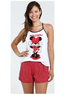Pijama Feminino Short Doll Minnie Disney