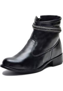 Bota Elegancy Ankle Strapcircle70 Preto - Tricae