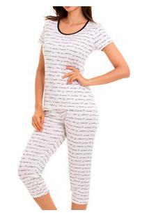 Pijama Capri Escrita Doce Luar (5021) Viscose