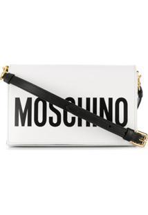 Moschino Bolsa Tiracolo Com Logo - Branco