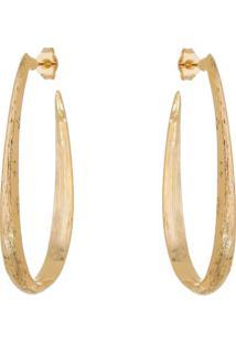 Par De Brincos Texturizado Banhado A Ouro- Dourado- Isabela Borgonian