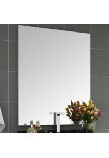 Espelho De Parede Pietra 100Cmx80Cm Móveis Bosi Branco