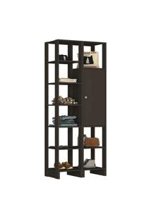 Guarda Roupa Closet 2 Peças 1 Porta C/ 2 Preto