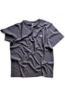 Camiseta Zebra Pine Cone Casual Masculino - Masculino-Cinza