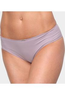 Calcinha Tanga Elegance Microfibra - Feminino-Nude